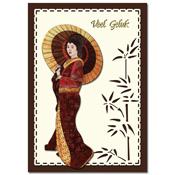 ori?ntaalse kaart veel geluk met geisha