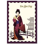ori?ntaalse kaart fijne dag met geisha