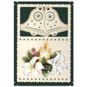 kerst borduurkaart met klokken