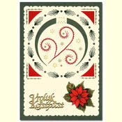 borduurkaart met kerstbal