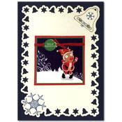 borduurkaart kerst met rendier