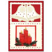 borduurkaart kerst met kaarsen