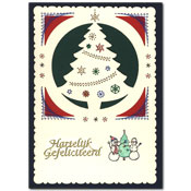 borduurkaart met kerstboom