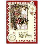 borduurkaart met kerst met Flower Fairie