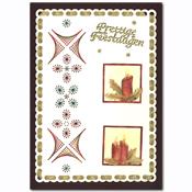 kerst borduurkaart met kaarsen