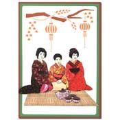 ori?ntaalse kaart  met geisha`s