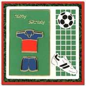 Sportieve verjaardags kaart met voetbal shirt