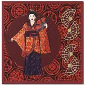 orientaalse kaart met geisha