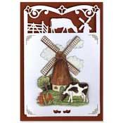 hollandse kaart met molen