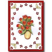 hollandse kaart met bloemen