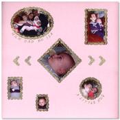 Scrapbook pagina geboorte