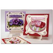 geborduurde bloem kaarten