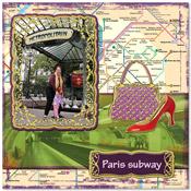 reis vakantie scrapbook pagina