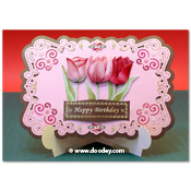 stand-easy card a5 met 3D tulp
