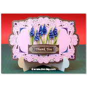 stand-easy card a5 met 3D blauw druifjes
