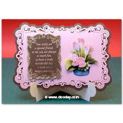 stand-easy card a5 met 3D Calla lily