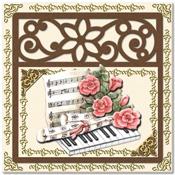 kaart met piano