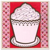 kaart met grote cupcake