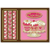 kaart met cupcakes