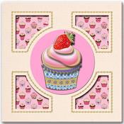 3D Match-it Cupcake kaart