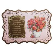 stand easy kaart met easy 3d bloem