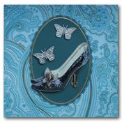 Bedank kaart met schoen en vlinders