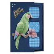bedank kaart met papegaai