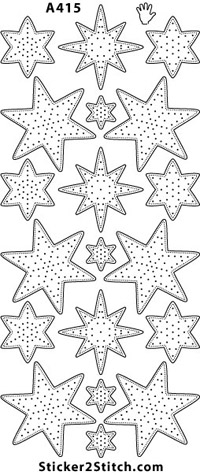 A415 embroidery sticker christmas star
