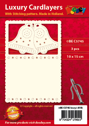 BEC5745 Luxury card layer stitch A6 layer bells