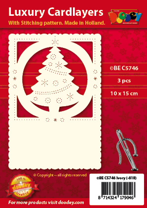 BEC5746 Luxury card layer stitch A6 layer christmas tree