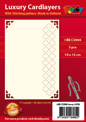 BEC5904 Luxury card layer stitch A6 layer squere squere corner