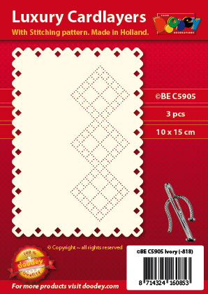 BEC5905 Luxury card layer stitch A6 layer squere squere border