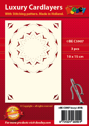 BEC5907 Luxury card layer stitch A6 layer circle
