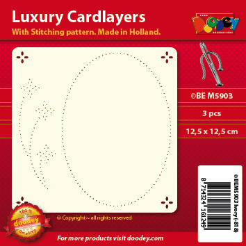 BEM5903 Luxury card layer stitch 12,5 x 12,5 cm