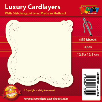 BEM5905 Luxury card layer stitch 12,5 x 12,5 cm