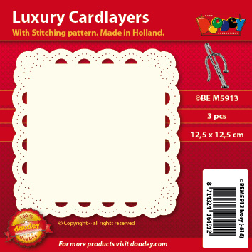 BEM5913 Luxury card layer stitch 12,5 x 12,5 cm arc