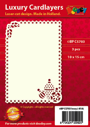 BPC5703 Luxury card layer A6 stars boubles