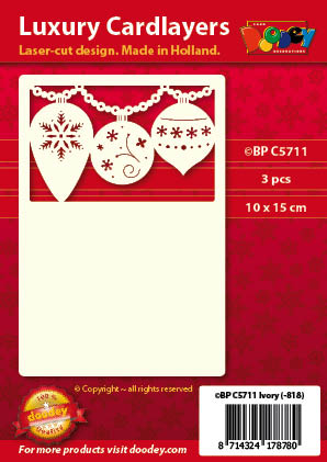 BPC5711 Luxury card layer A6 3 christmas baubles