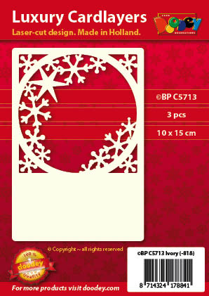 BPC5713 Luxury card layer A6 3 ice cristal window