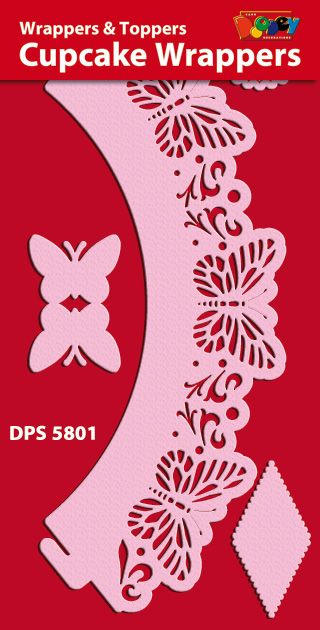 DPS5801 Cupcake Wrappers butterfly