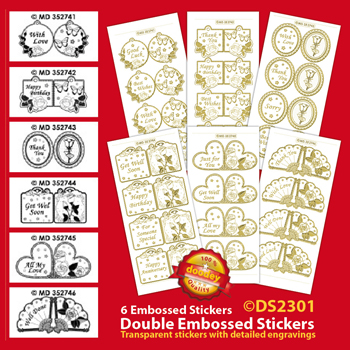 DS2301 Sticker set Mini Card Stickers