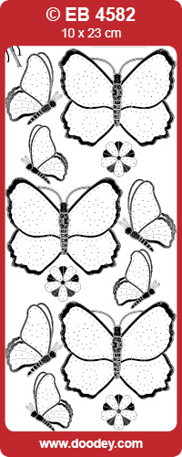 EB4582 embroidery sticker butterflies (2)