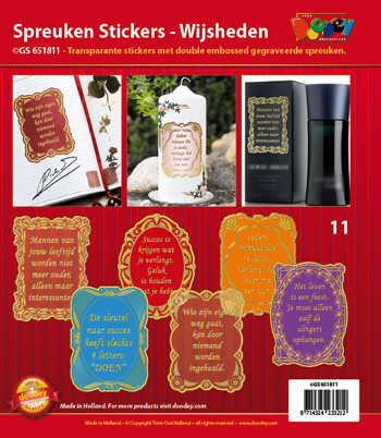 GS651811 Dutch text stickers