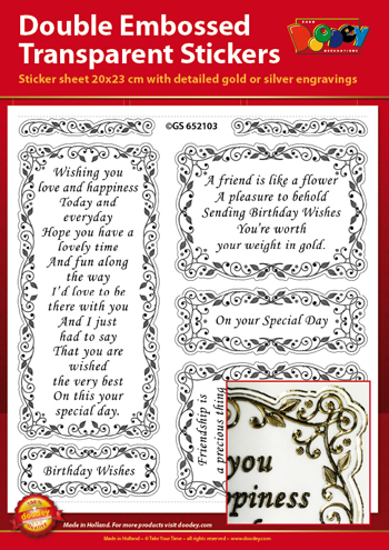 GS652103 Scrapbook stickers English text