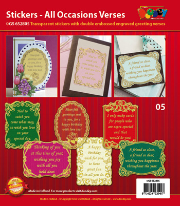 GS652805 Scrapbook stickers All Occasions Verses