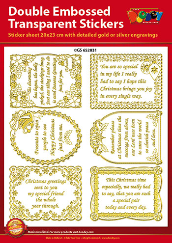 GS652831 Scrapbook stickers Christmas Verses