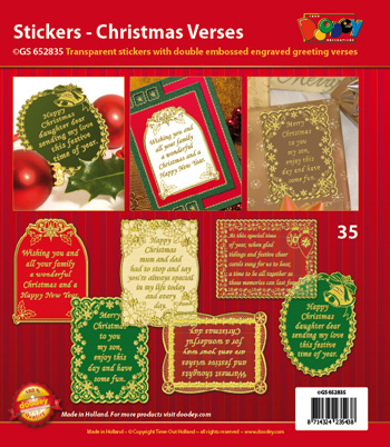 GS652835 Scrapbook stickers Christmas Verses