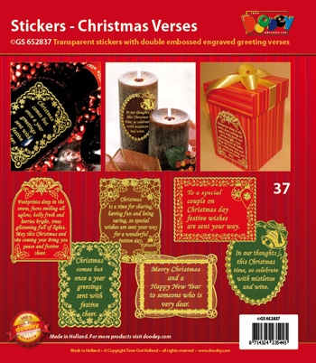 GS652837 Scrapbook stickers Christmas Verses