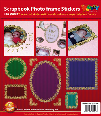 GS658602 Scrapbook stickers photo frames big small