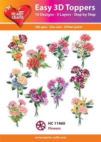 HC11460 Easy 3D-Toppers Flowers